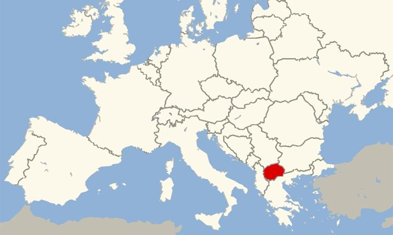 skopje macedonia map