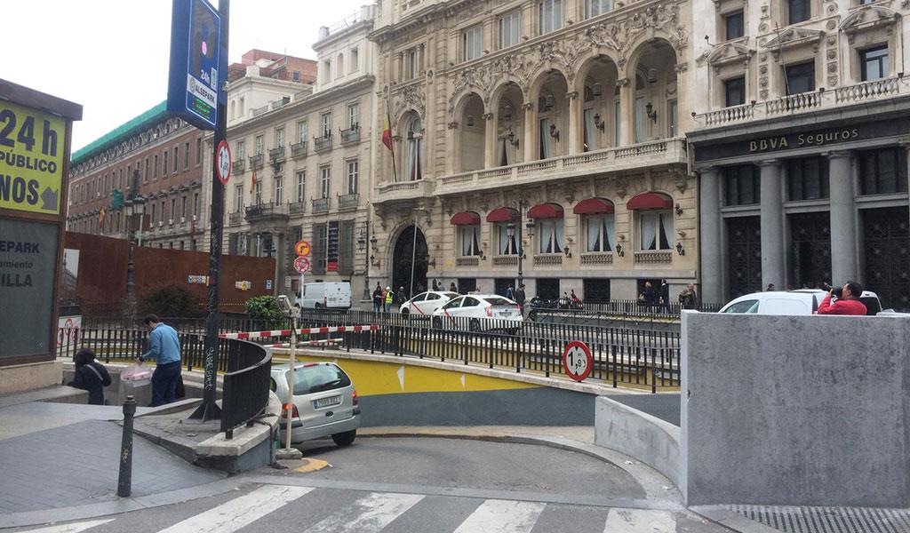 Parking Sevilla-Canalejas and Parking Alcalá, Madrid