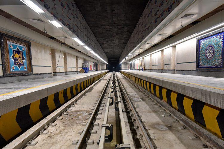 Túnel de Metro de Mashhad, Irán