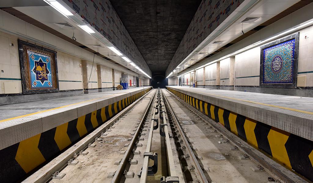 Túnel de metro en Mashhad, Irán