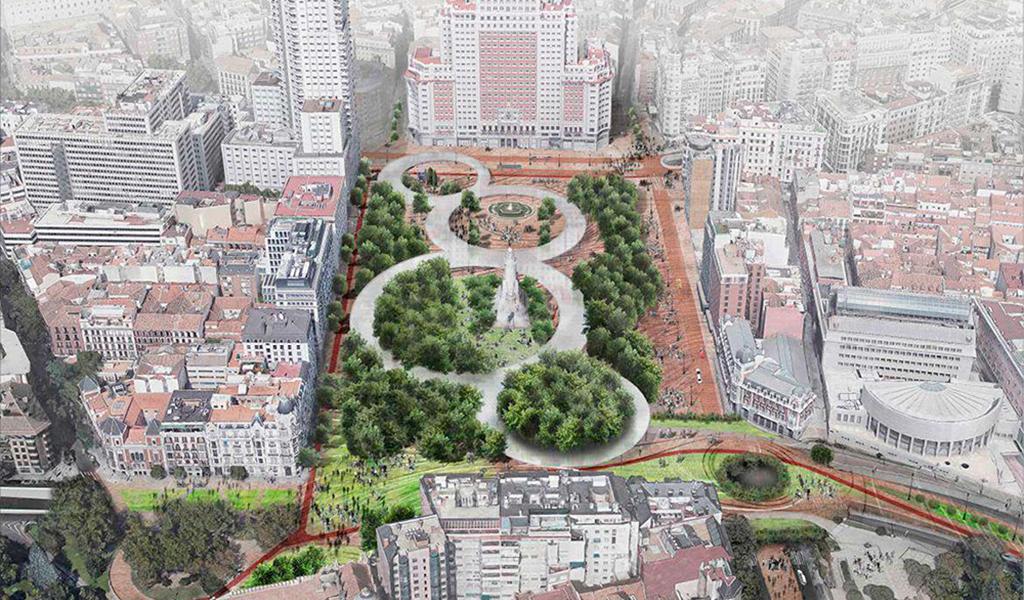 Reforma Plaza de España con túnel de Bailén, Madrid
